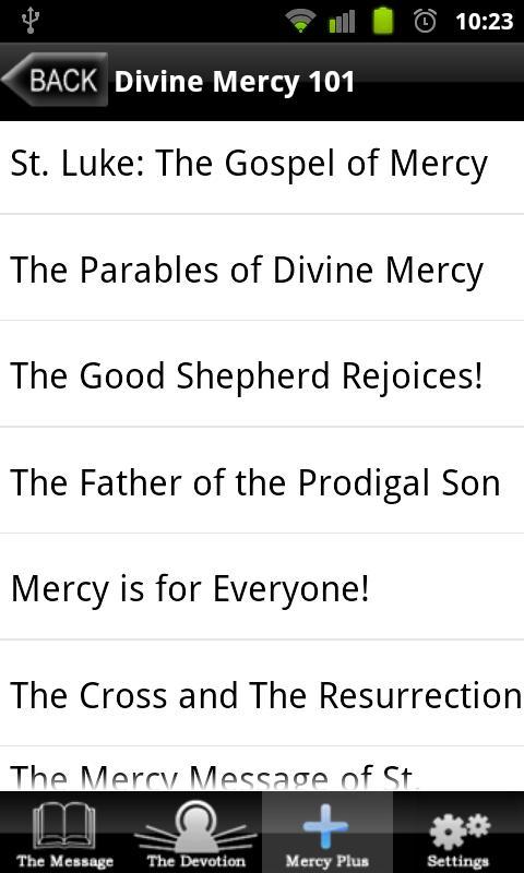 Divine Mercy- screenshot