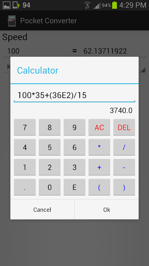 Pocket Converter (Units) - screenshot