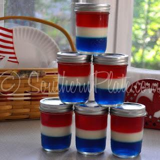 Patriotic Jello Jars.