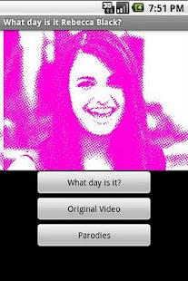 What day is it Rebecca Black? - screenshot thumbnail