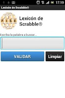 Screenshot of Lexicon de Scrabble®