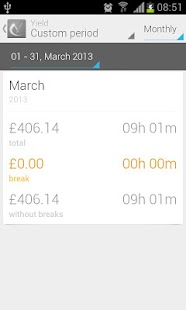 Yield Timesheet (Beta) - screenshot thumbnail