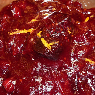 Cranberry Sauce with Figs, Candied Citrus and Mexican Chocolate