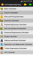 Screenshot of Civil Engineering Pack