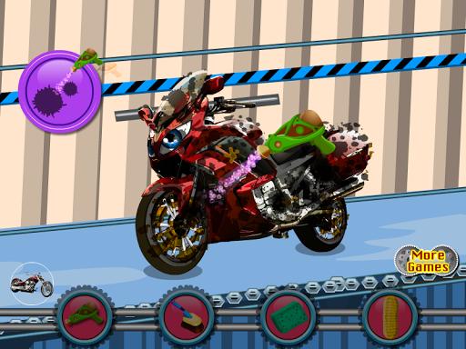 オートバイウォッシュゲーム
