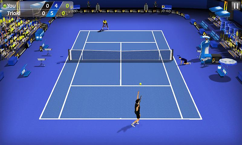 Le tennis chiquenaudé 3D – Capture d'écran