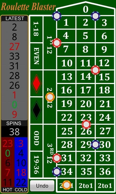 Roulette most common numbers