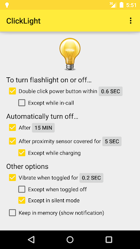ClickLight Flashlight