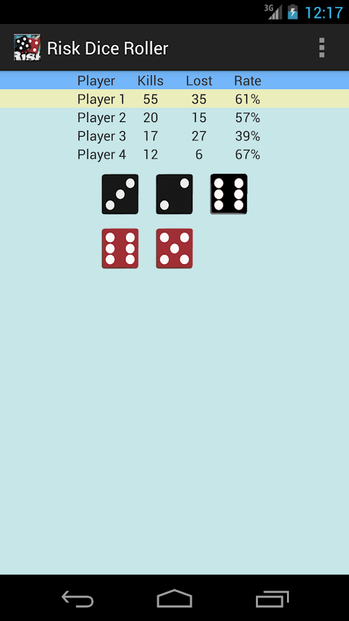 Risk Dice Roller- screenshot