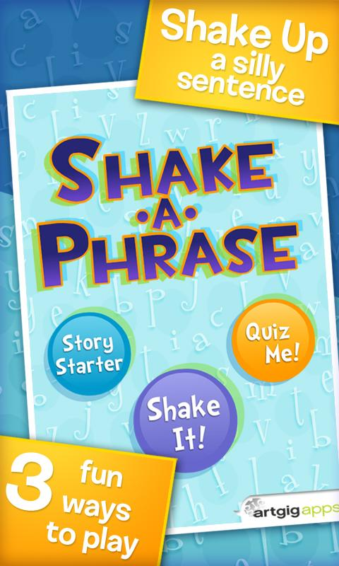 Shake-a-Phrase: Vocabulary Fun- screenshot