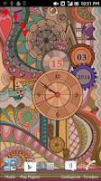 Screenshot of Glass Clock Live Wallpaper PRO