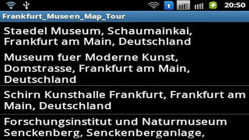 Frankfurter Museen Map Tour