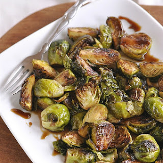 Teriyaki Glazed Roasted Brussels Sprouts