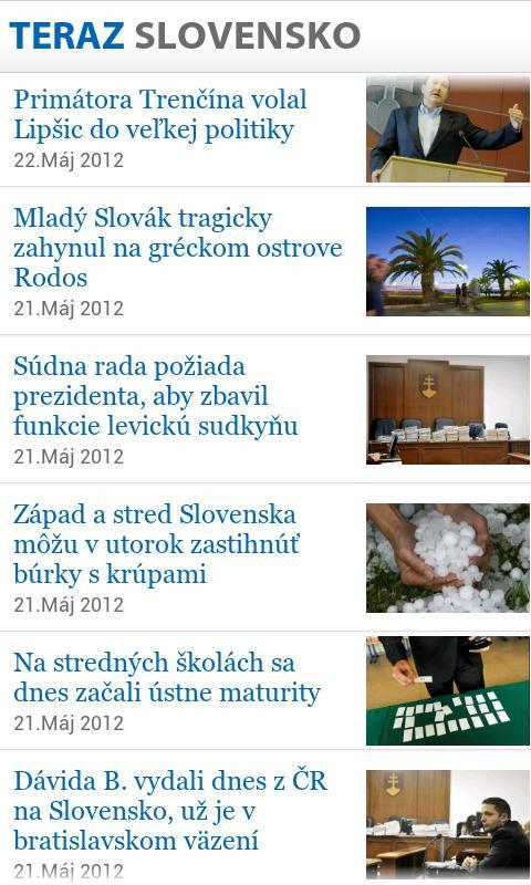 TERAZ.SK - screenshot