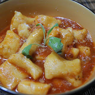 Sweet Potato Gnocchi with Tomato and Basil.