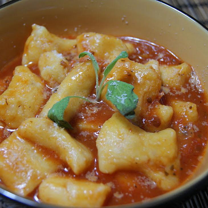 Sweet Potato Gnocchi with Tomato and Basil
