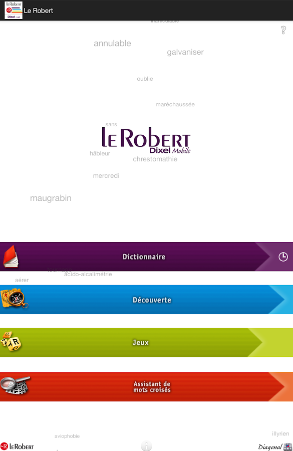 Dictionnaire Le Robert Mobile- screenshot