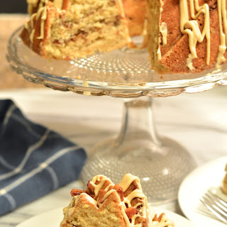 Maple Bacon Bundt Cake with Bacon Pecan Streusel Swirl