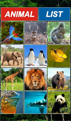 AnimalList -Listing of Animals