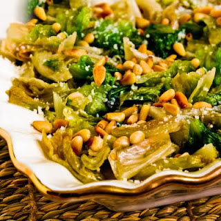 Sauteed Escarole with Parmesan and Toasted Pine Nuts