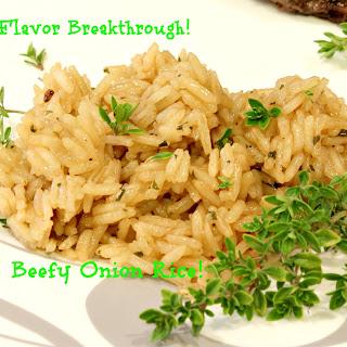 Beefy Onion Rice!