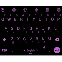 Keyboard Theme Flat Black Pink icon