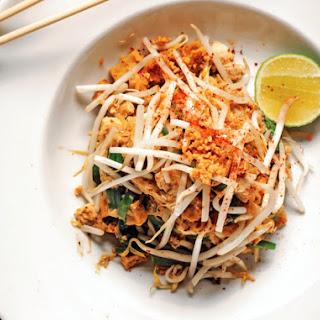Grilled Shrimp Pad Thai.