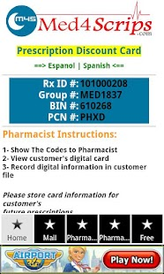 Free Prescription Rx Card - screenshot thumbnail