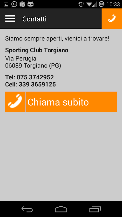 Sporting Club Torgiano- screenshot