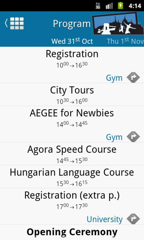 Agora Budapest 2012 - screenshot