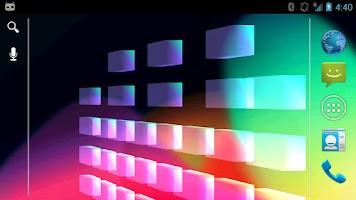 Screenshot of 3D Equalizer Live Wallpaper