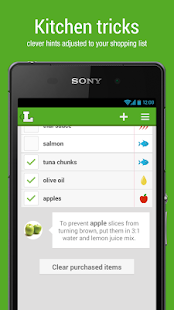 Shopping list - Listonic - screenshot thumbnail