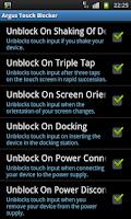Screenshot of Touch Blocker / Disable Touch