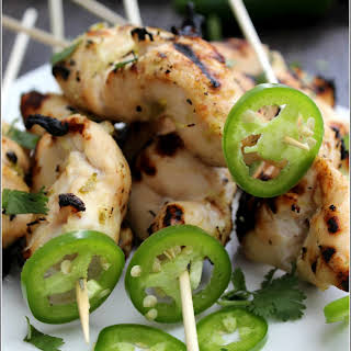 Jalapeño -Lime Grilled Chicken Kabobs.