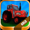 Tractor: Farm Driver – Gold logo