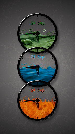 Tinted Glass Zooper Clocks