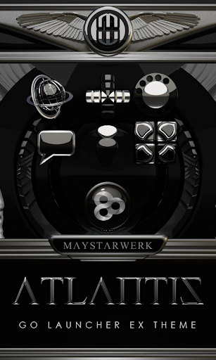 GO Launcher theme Atlantis