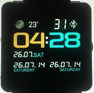 NeonWorld clock for SmartWatch