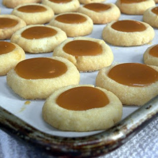 Caramel Thumbprint Cookies.