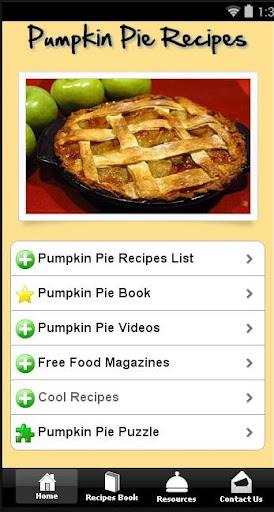 Free Pumpkin Pie Recipes