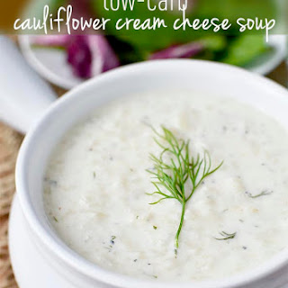 Low-Carb Cauliflower Cream Cheese Soup.
