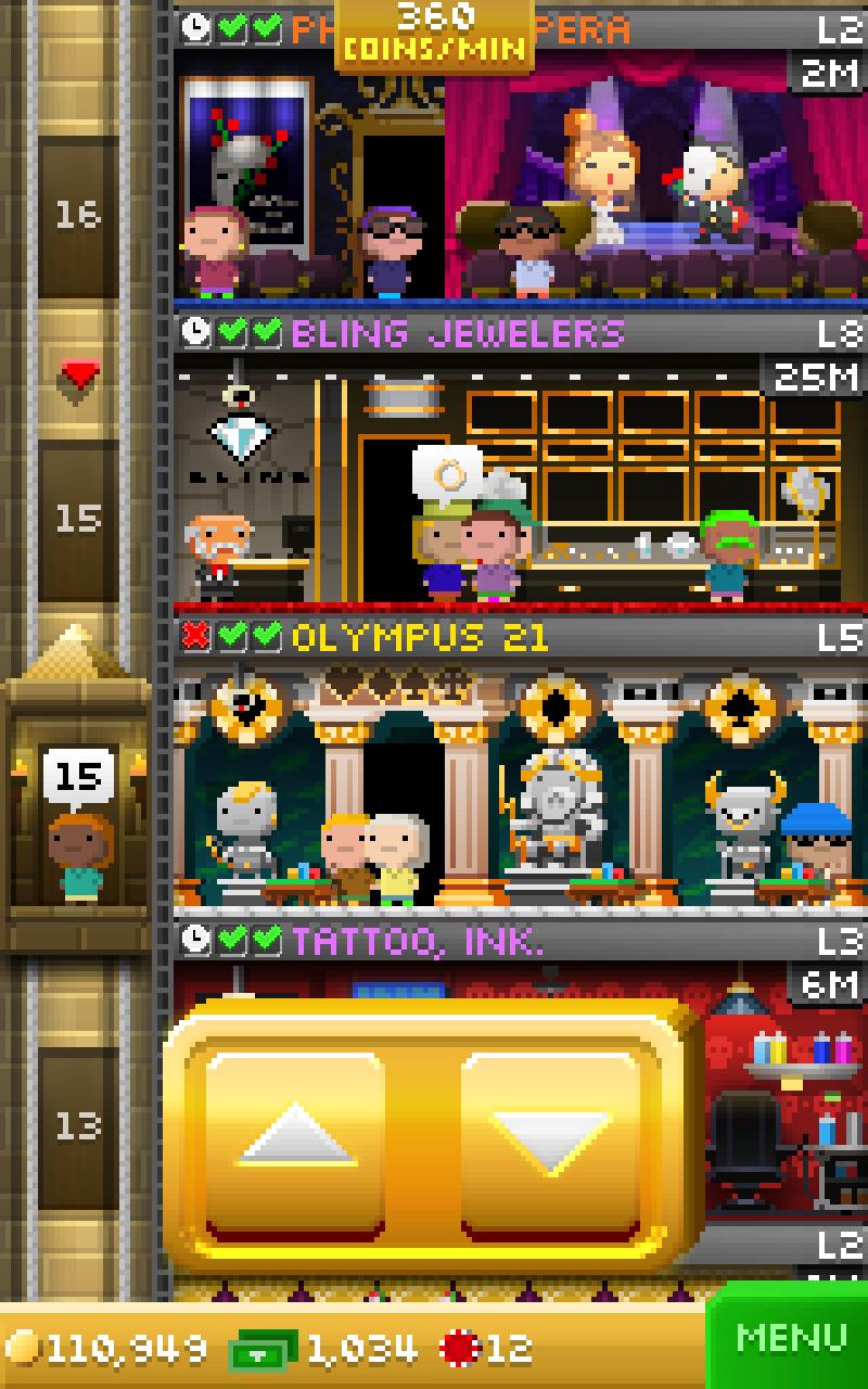 Tiny Tower Vegas screenshot #3