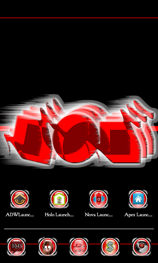 RhombuSphere Red Apex Nova ADW - screenshot