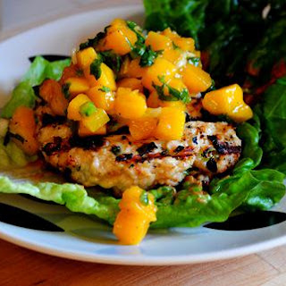 Thai Chicken Burgers with Mango Salsa