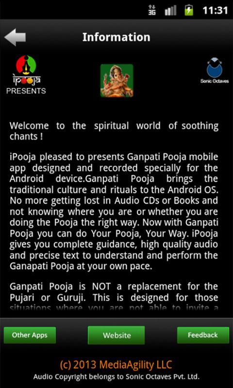 iPooja-Ganapati Pooja Marathi - screenshot