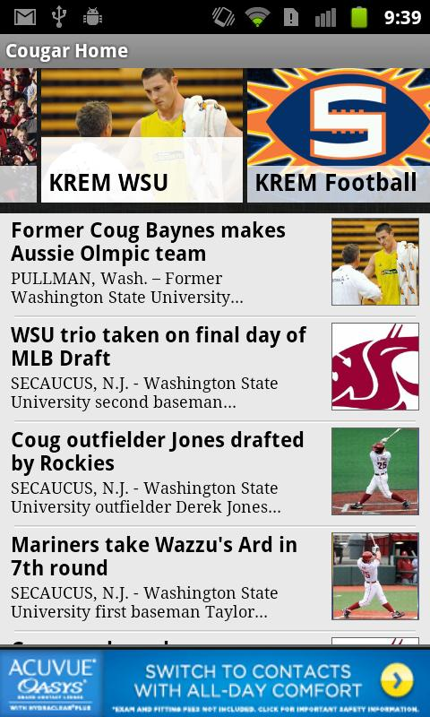 KREM Cougar Football - screenshot