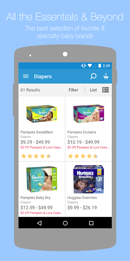 Diapers.com- screenshot