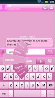 Screenshot of GO Keyboard Pink Theme