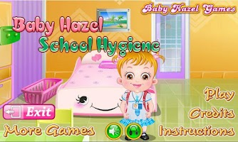 Screenshot of Baby Hazel School Hygiene