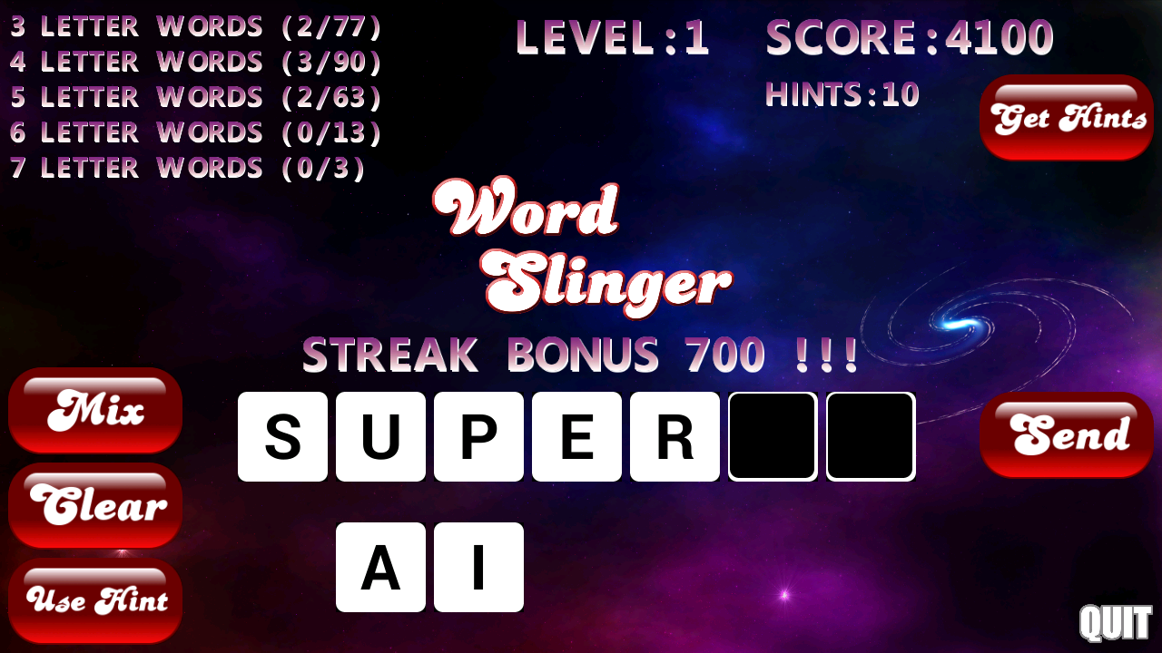 Word Slinger- screenshot
